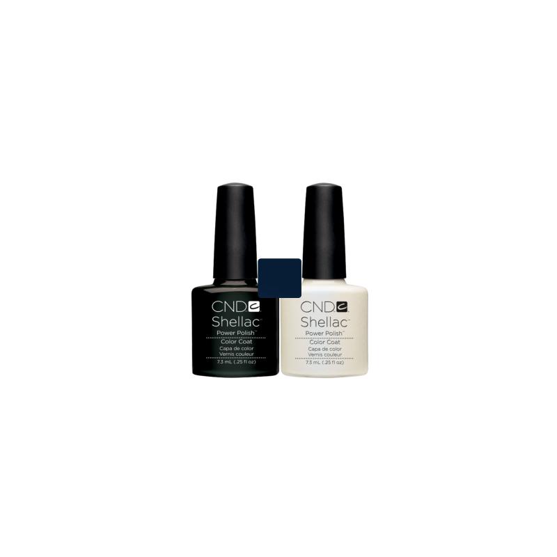 CND Shellac Black Pool + Negligee