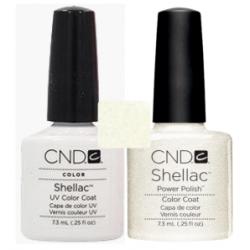 CND Shellac Cream Puff + Silver VIP Status