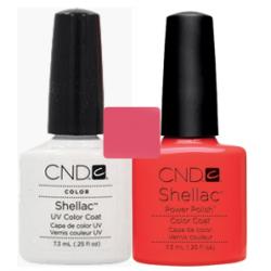 CND Shellac Cream Puff + Tropix