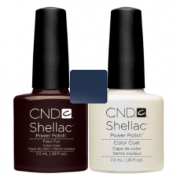 CND Shellac Faux Fur + Negligee