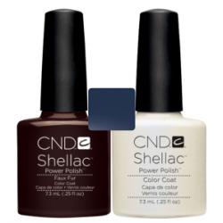 CND Shellac Faux Fur + Negligee