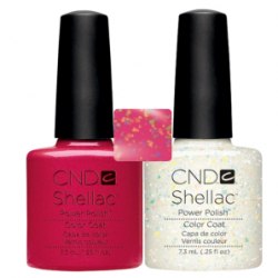 CND Shellac Hot Chilis + Zillionaire