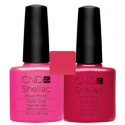 CND Shellac Hot Pop Pink + Hot Chilis