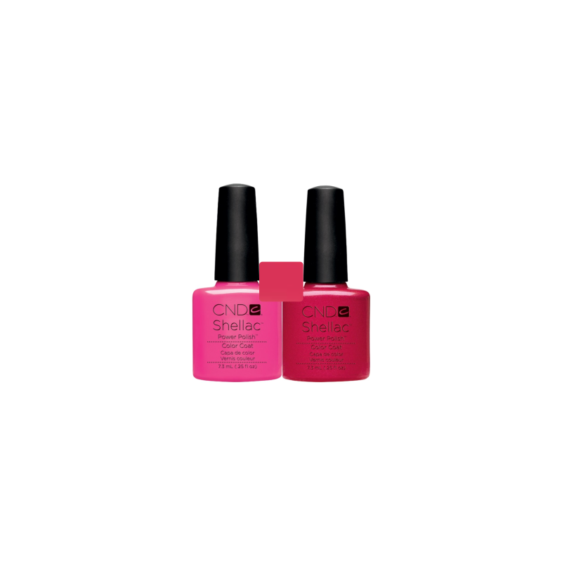 CND Shellac Hot Pop Pink + Hot Chilis