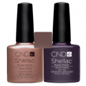 CND Shellac Iced Cappuccino + Vexed Violette