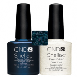 CND Shellac Midnight Swim + Silver VIP Status