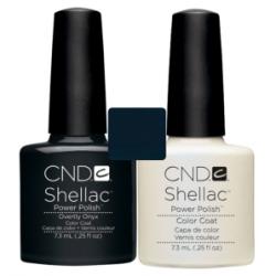 CND Shellac Overtly Onix + Negligee