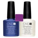 CND Shellac Purple Purple + Silver VIP Status