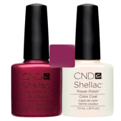 CND Shellac Red Baronesse + Moonlight & Roses