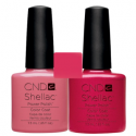 CND Shellac Rose Bud + Hot Chilis