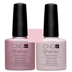 CND Shellac Strawberry Smoothie + Romantique