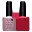 CND Shellac Strawberry Smoothie + Wildfire