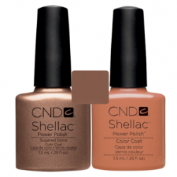 CND Shellac Sugared Spice + Cocoa