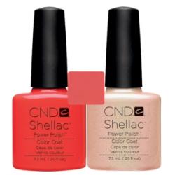 CND Shellac Tropix + Iced Coral